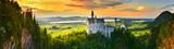 Neuschwanstein castle at sunset, Germany - 168367645