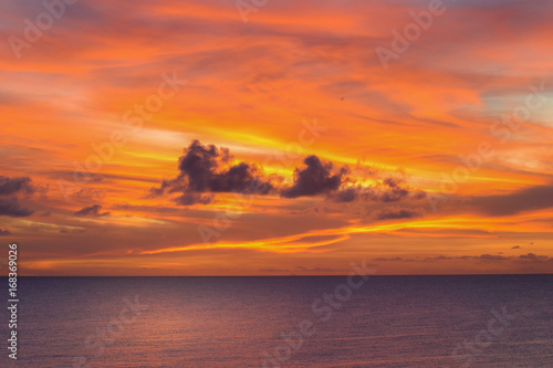 In de dag Oranje eclat Sunset in Niue.