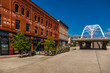Old Buildings in Denver's Highlands Neighborhood and Highland Pedestrian Bridge
