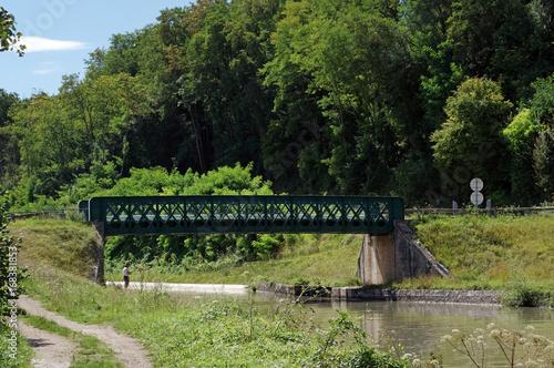 Poster Canal de Briare en region centre Loire