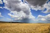 Rain cloud dropping its content