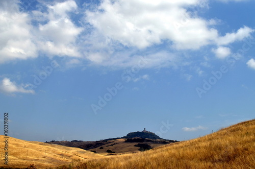 Aluminium Toscane Trockene Hügellandschaft in der Toskana