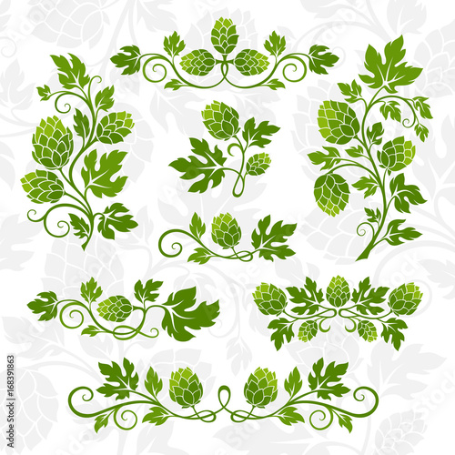Hop decoration elements.