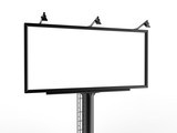 Billboard blank white for outdoor advertising poster or blank billboard advertisement mock up template can be used for display your products or promotion.size 10'-5