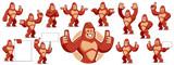 Gorilla mascot character set - 168400661
