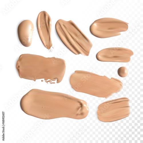 Korektor kosmetyczny, pociągnięcia wymazu, krem tonowy rozmazany Vector.