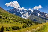 Ecrins National Parc mountain peaks and glaciers in summer. Glacier du Lautaret and Glacier de l'Homme. La Meije, Southern French Alps, Hautes-Alpes. France - 168413832