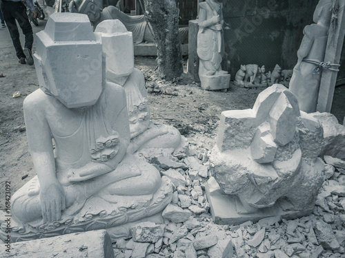 The buddha statue made from marble in Mandalay, Myanmar Poster