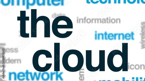 The cloud animated word cloud, text design animation.
