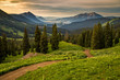 Washington Gulch road above Crested Butte at sunrise