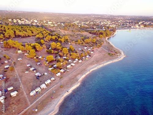 Fotobehang Nice Kroatien - Istrien aus der Luft