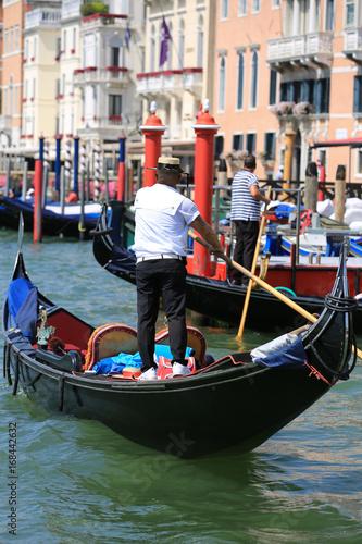 Foto op Plexiglas Venetie Gondole à Venise, Italie