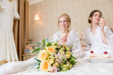 Girlfriends and bride celebrate hen party before the wedding. - 168446885