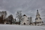 Ancient churches in the Kolomenskiy park, Moscow