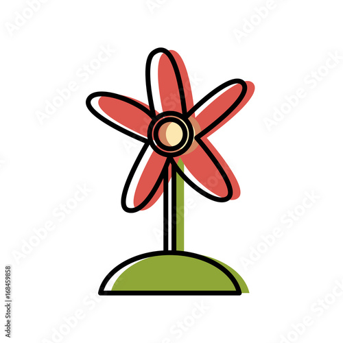 decorative flower natural floral ornament vector illustration - 168459858