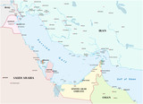 Map of the Persian Gulf and its neighboring countries - 168469063