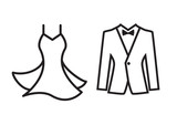 Dress and suit icon isolated - 168469227