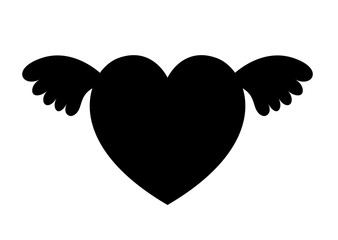 Flying Heart Shape