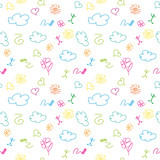 vector seamless colorful pattern drawings