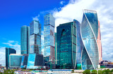 Moscow City, Russia modern city centre of skyscrapers