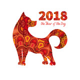Dog Is A Symbol Of The 2018 Chinese New Year Design For Greeting Cards Calendars Banners Posters Invitations Wall Sticker