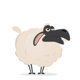 lazy cartoon sheep - 168507800