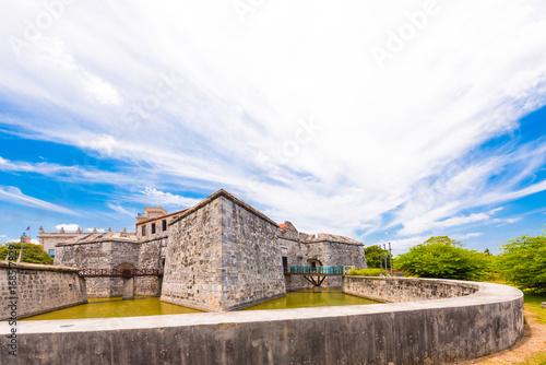 Foto op Canvas Havana Castillo de la Real Fuerza, Havana, Cuba. Copy space for text.