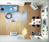 Top view of the modern room - 168519270