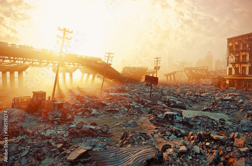 Apocalyptic landscape Poster