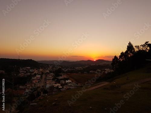 Por do sol no interior do Brasil
