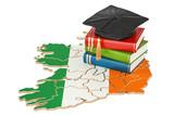 Education in Ireland concept, 3D rendering