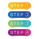 One Two Three Four steps progress - 168543801
