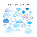 Vector set of different clouds - 168556268