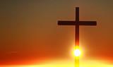 Silhouette cross in the sky - 168559813