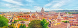 View of the city of Rome from above, from the hill of Terrazza del Pincio. Italy. - 168564290