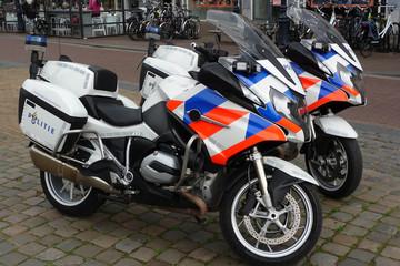 Dutch Flag Motif Police Motorcycles
