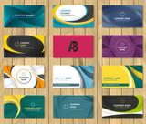 Set of corporate business card bundle. - 168576833