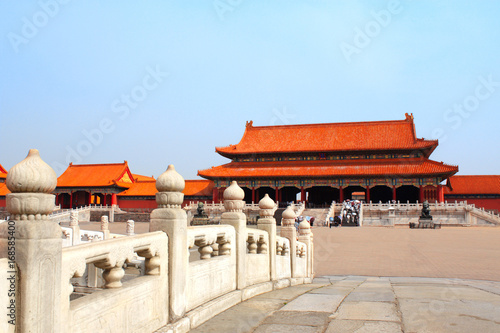 Fotobehang Peking Ancient pavilions in Forbidden City, Beijing, China