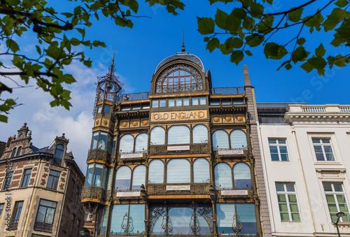 Fotobehang Brussel Brussels, Belgium - May 04, 2017: Musical Instruments Museum building