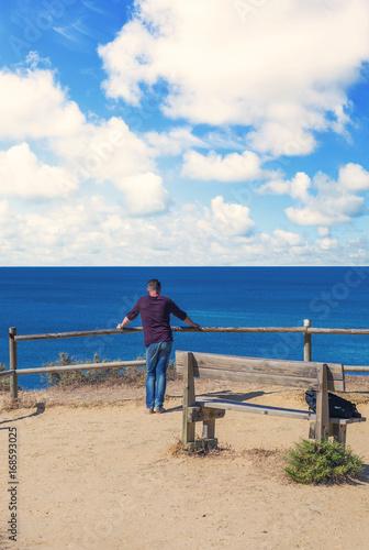 homme face à la mer Poster