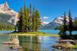 Spirit Island in Maligne Lake, Jasper National Park.