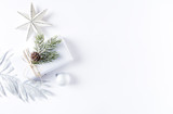 An Arrangement of Christmas Decorations and a Gift Box - 168616022