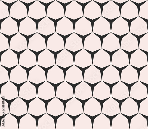 Geometric seamless pattern with triangles, hexagons