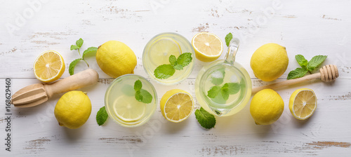 Lemon and juice - 168629460