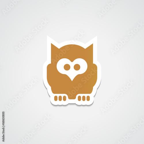 Fotobehang Uilen cartoon Owl