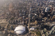 Aerial View of Toronto CN Tower and Rogers Centre
