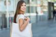 Woman shopping outdoor