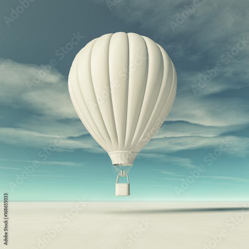 Fridge magnet White hot air balloon