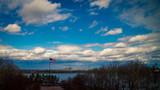 US flag on Ellis Island - 168659487