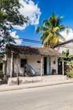 Small dilapidated house in the center of Las Tunas, Cuba